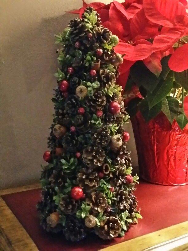 Pine cone Christmas tree by Mary Jane DiRienzo