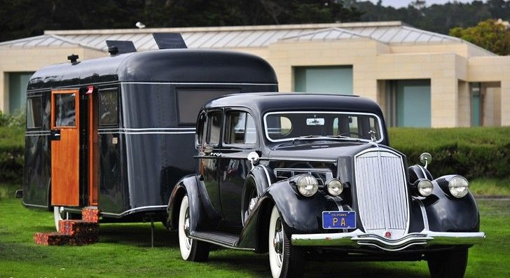 1936 Pierce Arrow V 12 Berlin With Pierce Arrow Travelodge Trailer