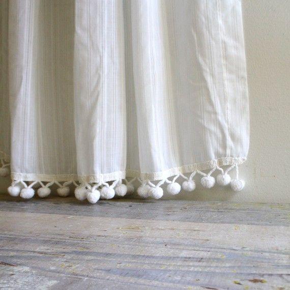 Vintage Pom Pom Curtain Gordijnen Raambekleding Pom Pom