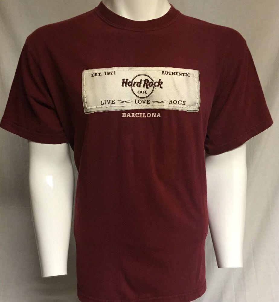 Barcelona Hard Rock Cafe T Shirts
