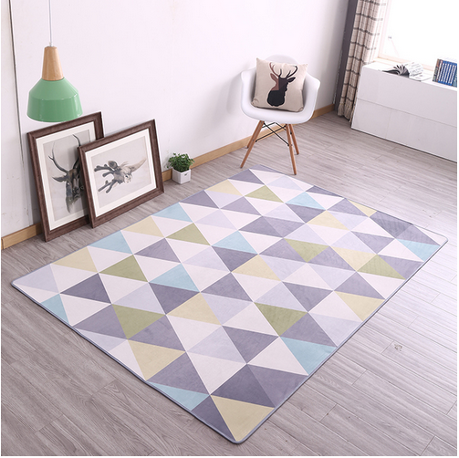 Brand New Fleece Carpet Preorder Geometrical Theme Latest Trend Excellent