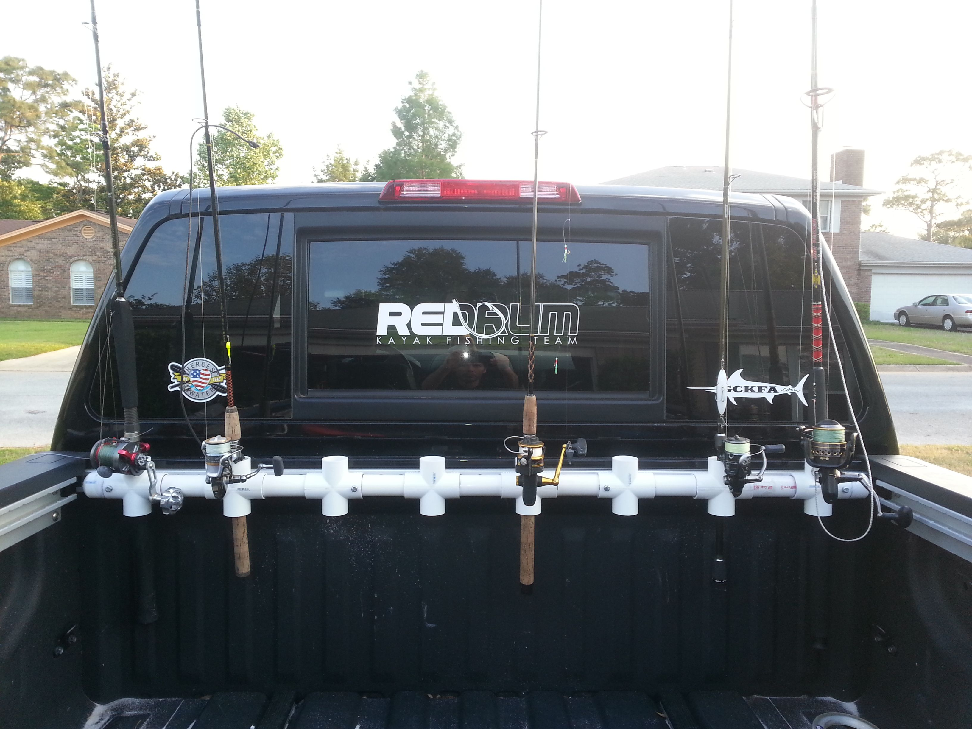 I ve been thinking about fabricating a simple rod rack for for Fishing rod rack for truck