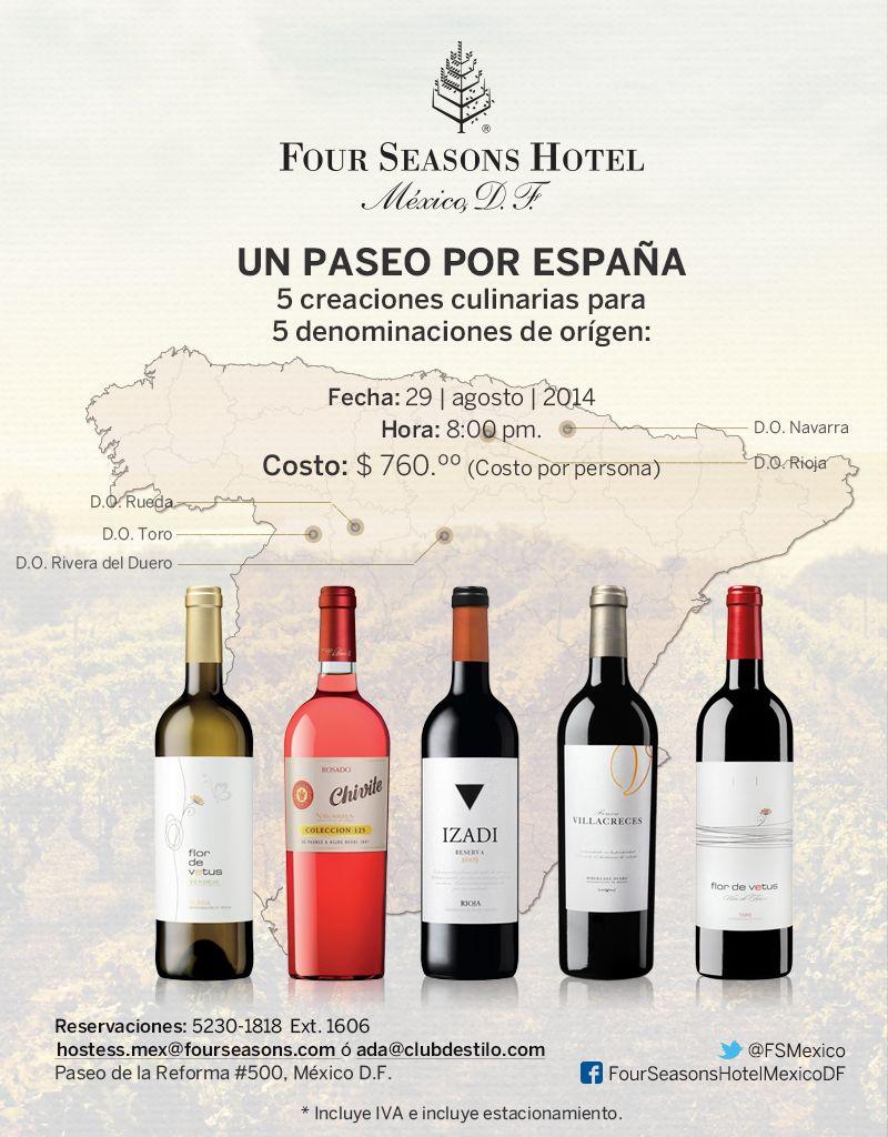 Un Paseo por España Cinco creaciones culinarias y cinco  Denominaciones de Origen de España en una cena https://www.facebook.com/events/695057803902387/