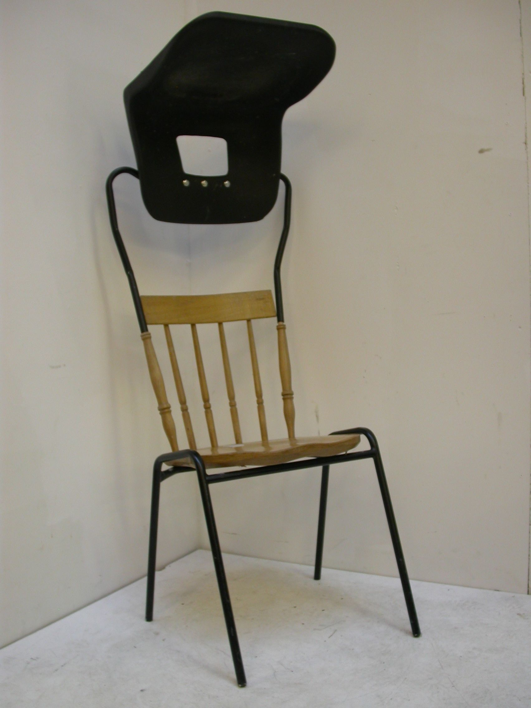 smoking ban chair two chairs moulded into one to provide a