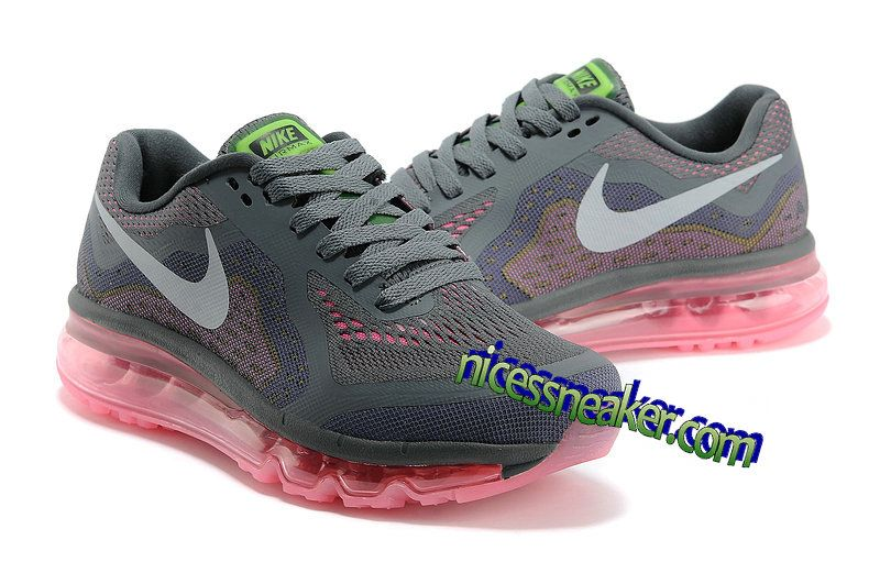 Nike Air Max 2014 Womens Dark Grey/Metallic Silver-Pink Shoes - Click Image  to Close