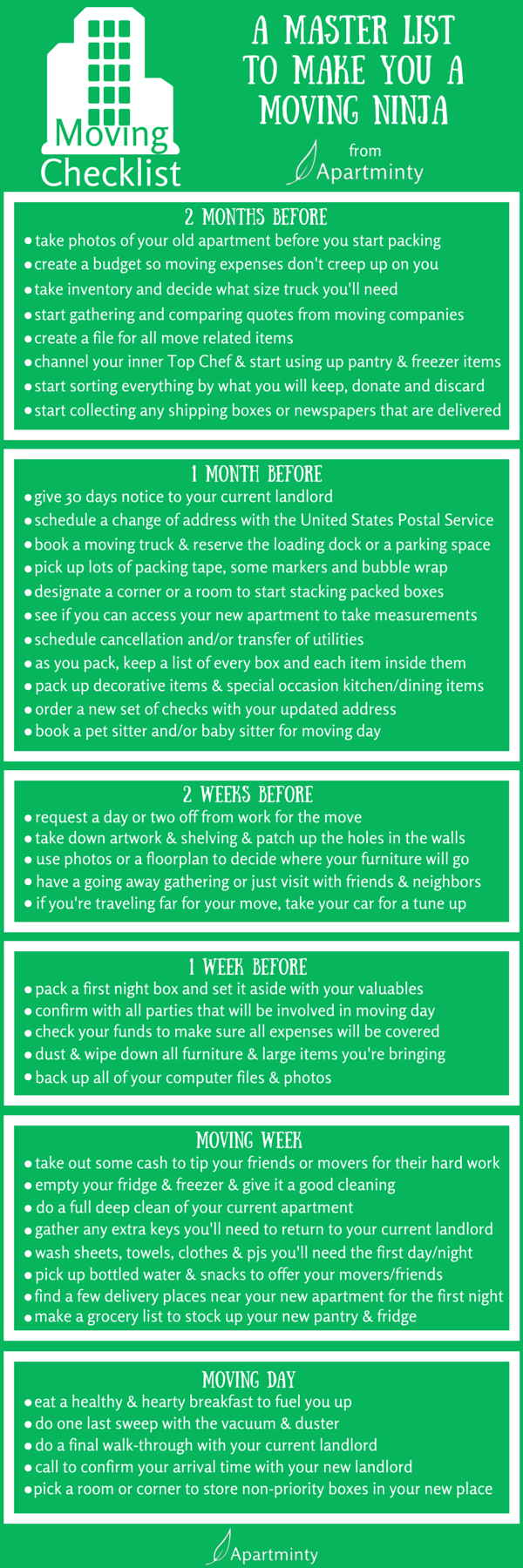 essential moving checklist | moving to a new apartment | Moving ...