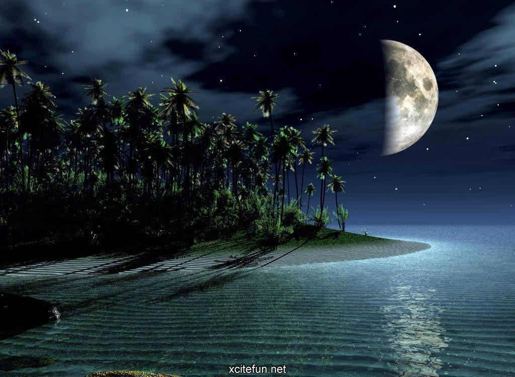 New 3d Wallpapers Beautiful Moon Fantasy Landscape Landscape