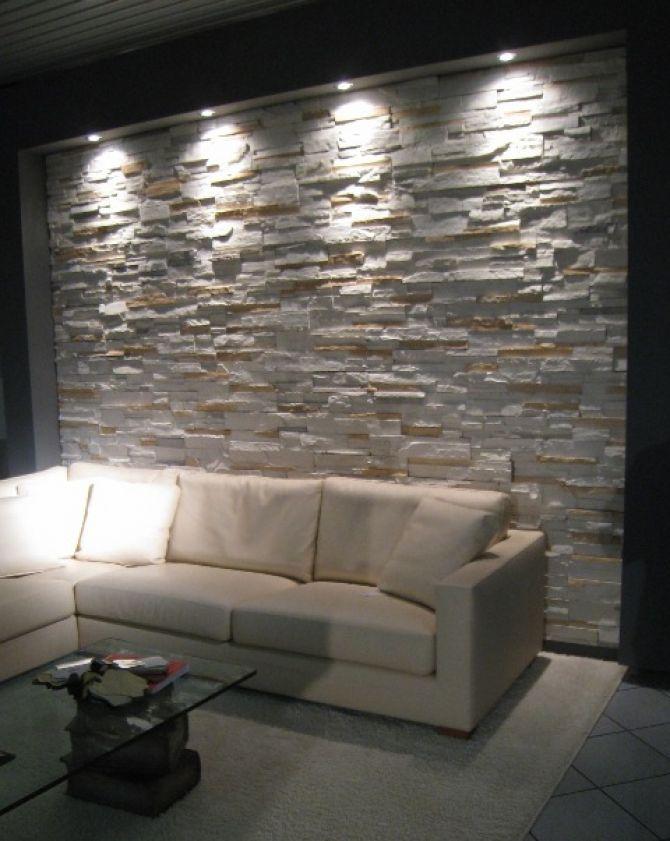 Maestrelli arredamenti: pietra ricostruita EuroPietra e BOISERIE OMNIASISTEM  parete in pietra ...