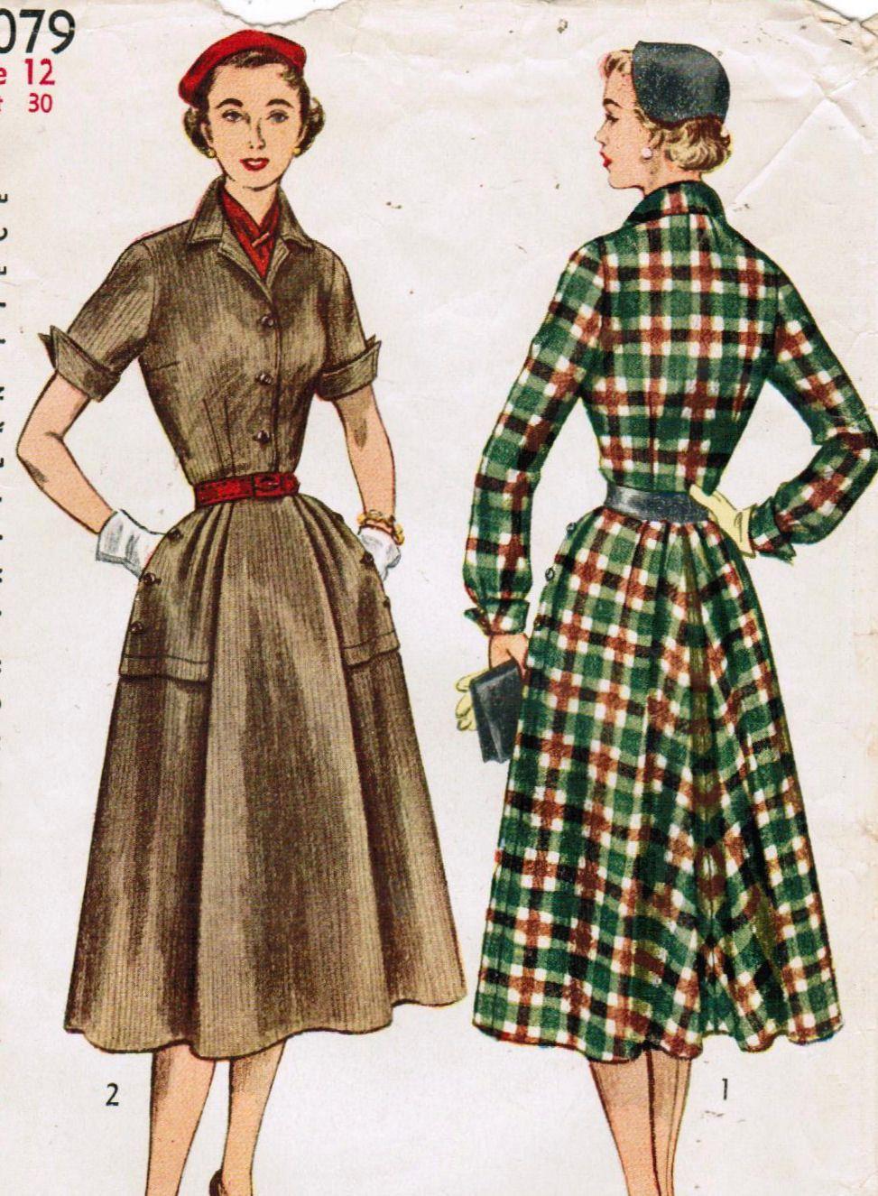 1950s simplicity 4079 vintage sewing pattern misses dress size 12 1950s simplicity 4079 vintage sewing pattern misses dress size 12 bust 30 jeuxipadfo Choice Image
