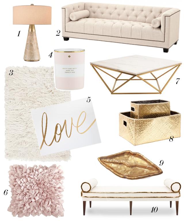 Design Powder Pink Palette Madebygirl Room Inspiration Gold Living Room Room Decor #pink #and #gold #living #room #decor