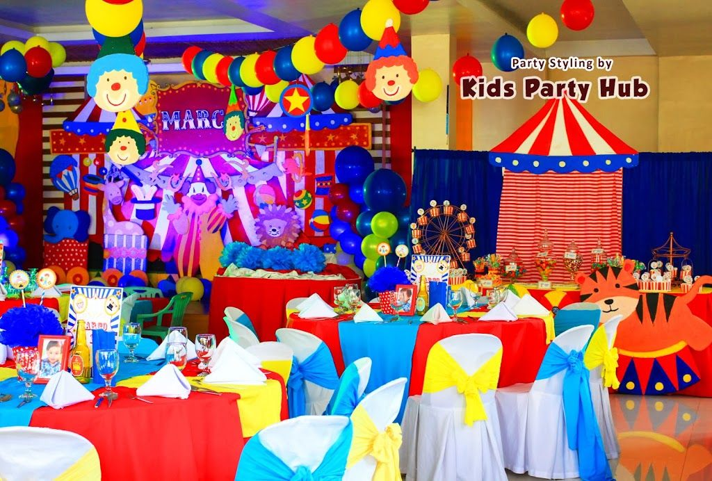 Carnival Theme Decoration Ideas Part - 27: Birthday Celebration Like Circus Carnival | Birthday Party Ideas 2015