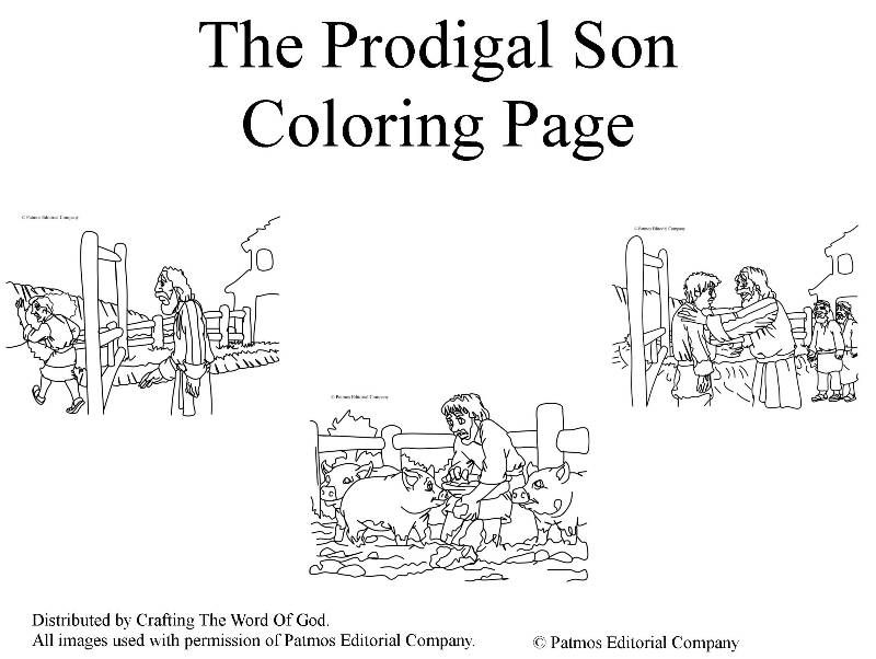 The Prodigal Son Coloring Pages Prodigal Son Bible For Kids