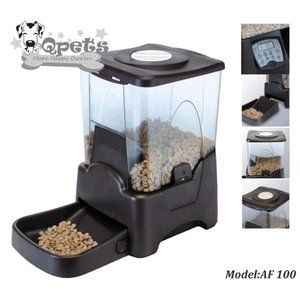 Qpets Large Capacity Automatic Pet Feeder Walmart Pet Feeder
