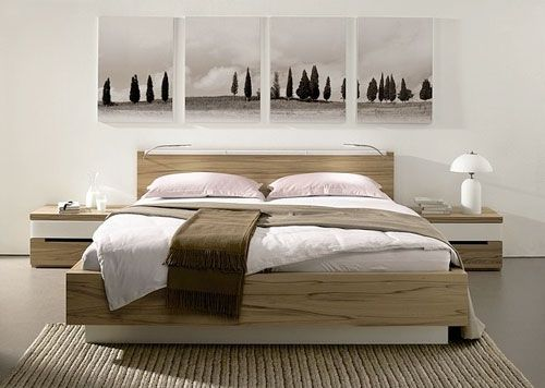 Inspiration  Bedroom Artwork Arrangements from H lsta