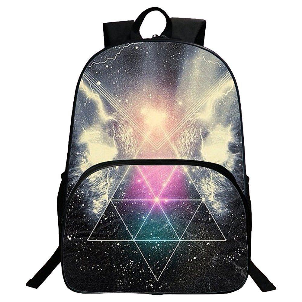 G-i-Mall Unisex Galaxy School Backpack Canvas