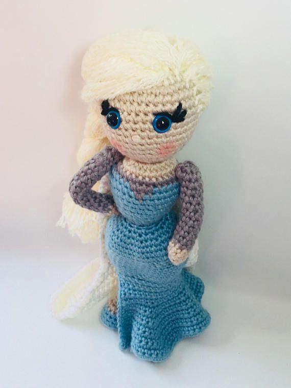 Crochet Pattern Frozen Elsa Plush Dollcrochet Doll Patternprincess
