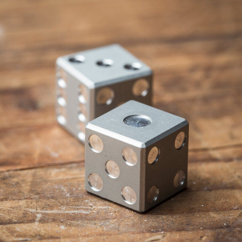 Machined Aluminum Dice Games By Amber Rix Cool Material 1