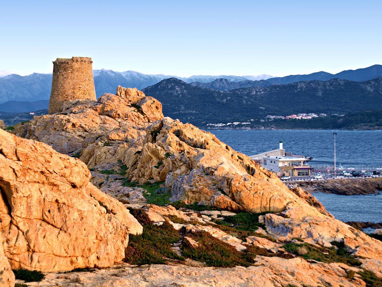 L Ile Rousse Corsica La Tour Genoise De La Pietra Ile Rousse Haute Corse Corse France