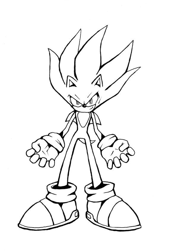 Awesome Super Sonic Coloring Pages Free Download Aniversario Da