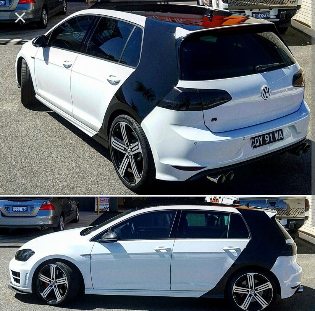 Vinyl Wrap On Gti Hot Hatch Volkswagen Golf