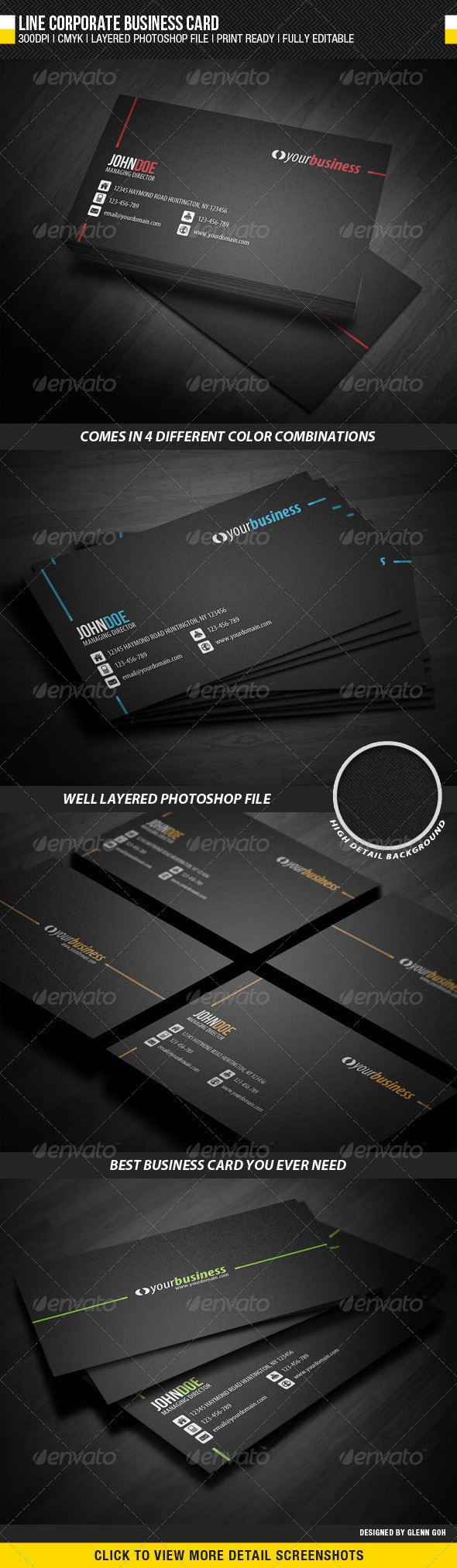 Business Card Templates Designs From Graphicriver In Business Card Maker Template 10 Business Card Template Design Simple Business Cards Business Card Maker