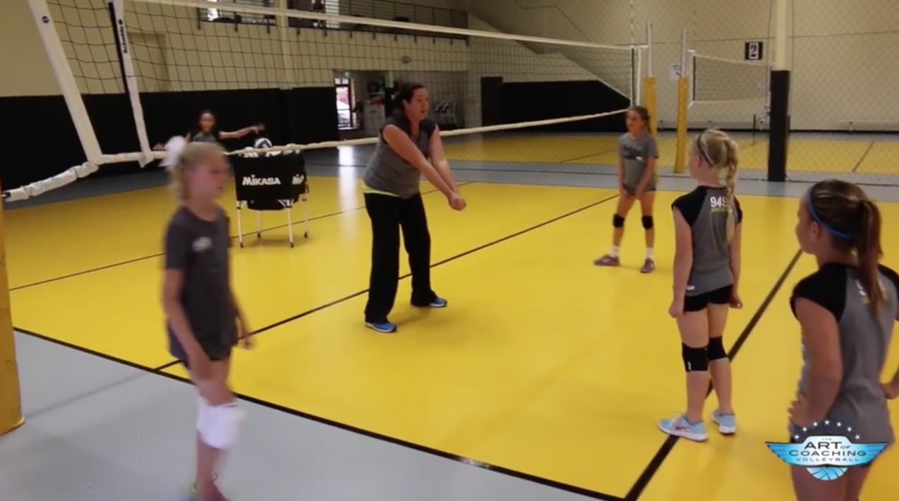 Freeball Footwork Drill For Young Players The Art Of Coaching Volleyball Coaching Volleyball Volleyball Drills Volleyball Skills