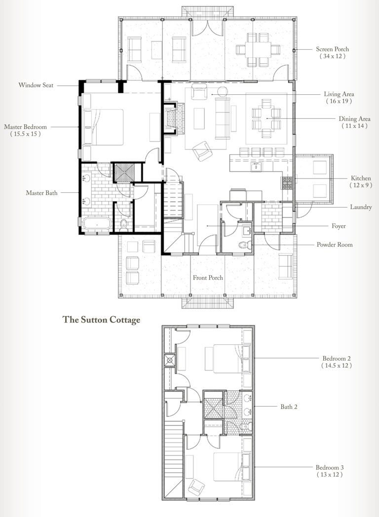 Sutton Cottage - the plan for the palmetto bluff cottage on houzz ...