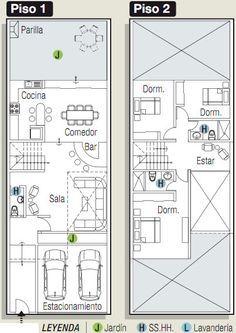 planos de casas modernas de 160m2