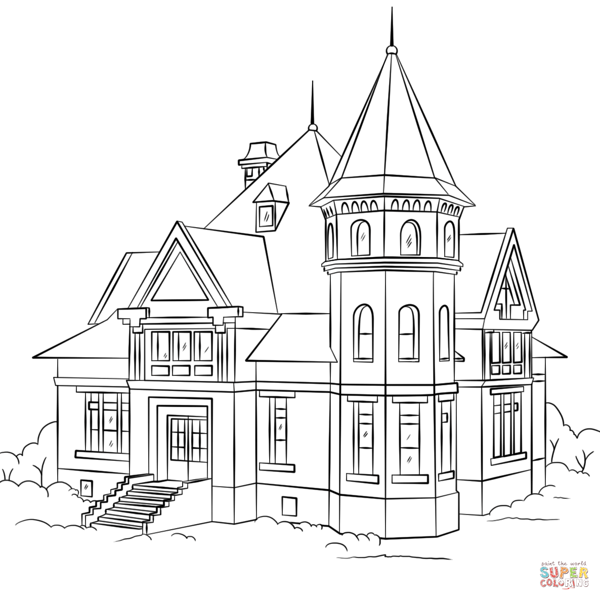 Download or print this amazing coloring page Victorian