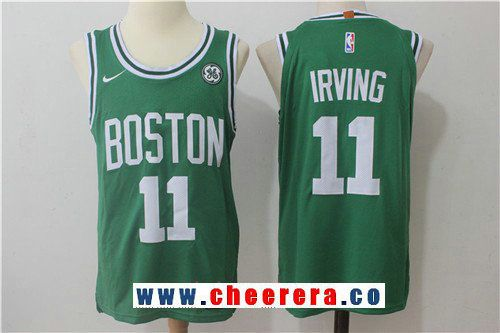 84cdc3db2 Men s Boston Celtics  11 Kyrie Irving Green 2017-2018 Nike Swingman  Stitched NBA Jersey