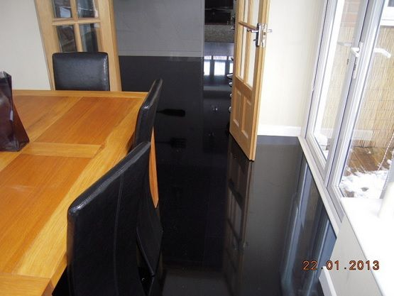 Piano Black High Gloss Laminate Flooring