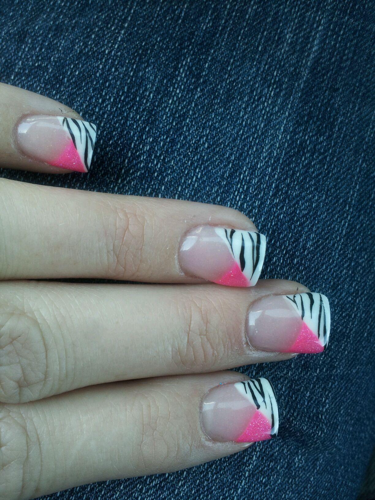 Pink zebra nails nails pinterest - Pink Zebra Nails