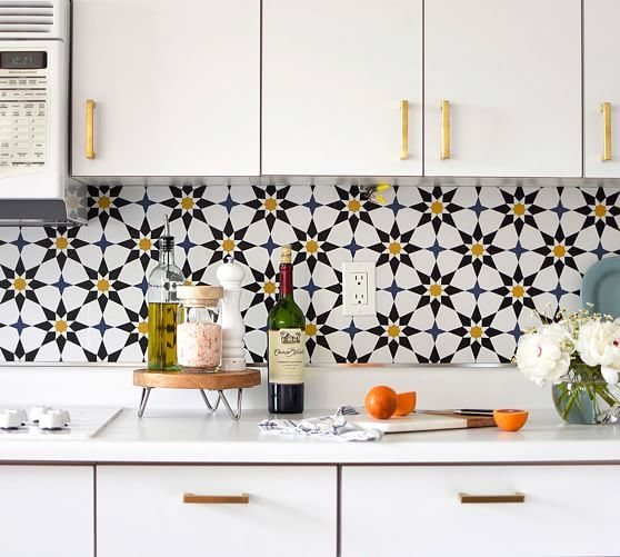 Soleil Moroccan Removable Wallpaper In 2021 Wallpaper Backsplash Kitchen Kitchen Wallpaper Removable Wallpaper Kitchen
