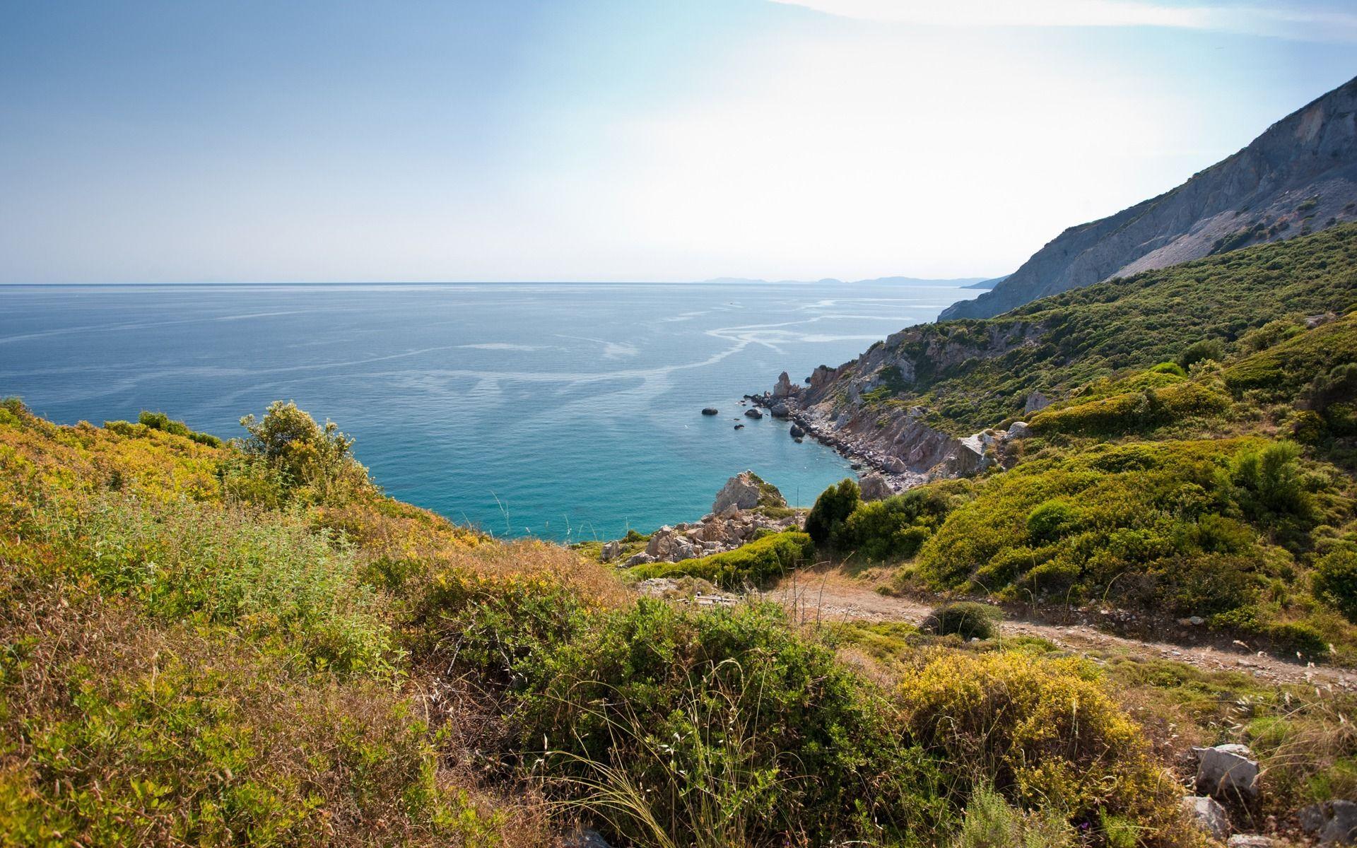 Обои греция, вид на море. Природа foto 11