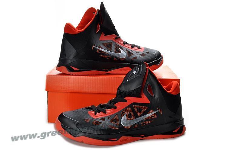 cheaper 7bb7c a8664 Nike Zoom Hyperchaos Mens Basketball Shoes Black Gym Red Metallic Silver  535272