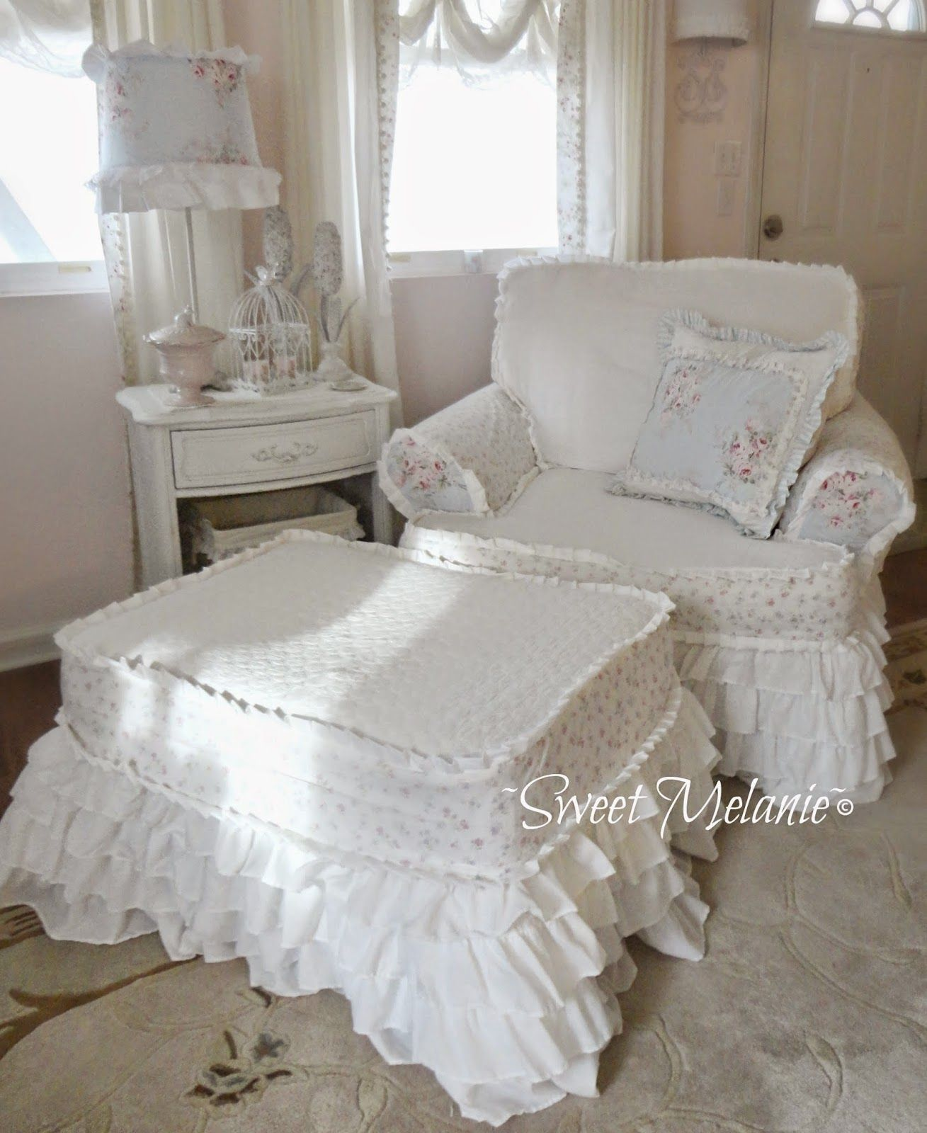 Sweet Melanie~: Sew Simple...have a chair and ottoman I need done ...