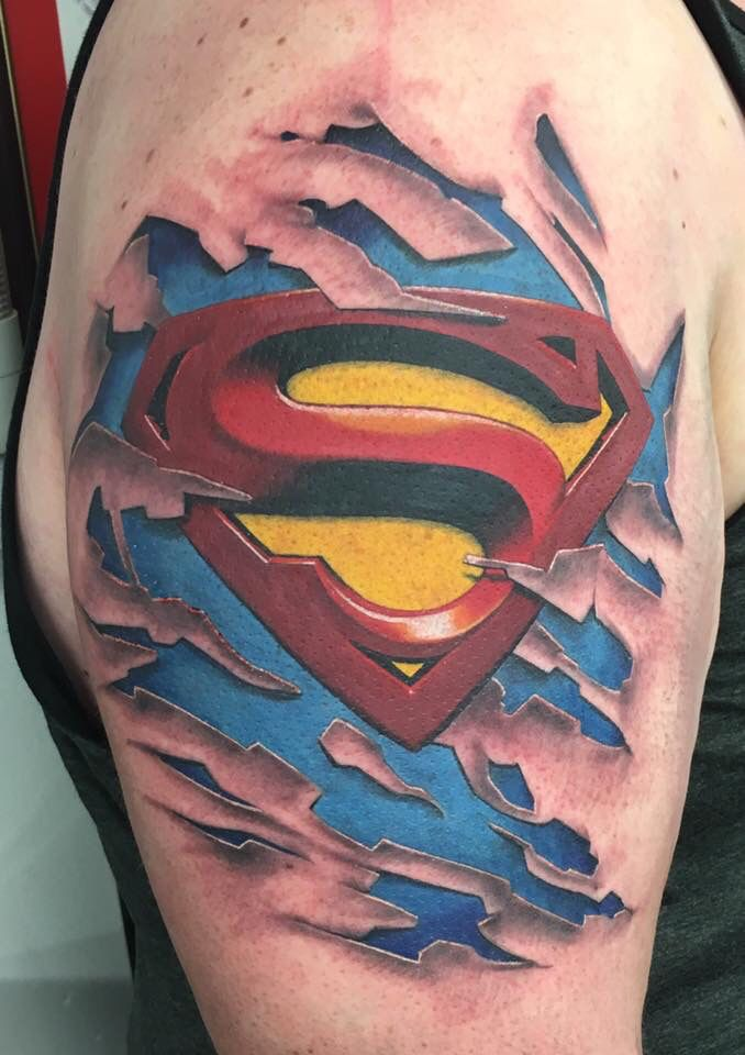 superman tattoo rippedskin tattoo pinterest superman tattoos tattoo and tatting. Black Bedroom Furniture Sets. Home Design Ideas
