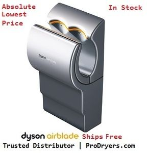 Bathroom Hand Dryers Style dyson ab04-120-g airblade hand dryer, 110-120v, polycarbonate abs
