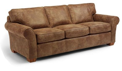 Flexsteel Vail Nuvo Leather Sofa And Chair Not Pictured