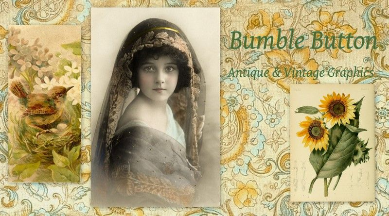Antique & Vintage Graphics Bumble Button