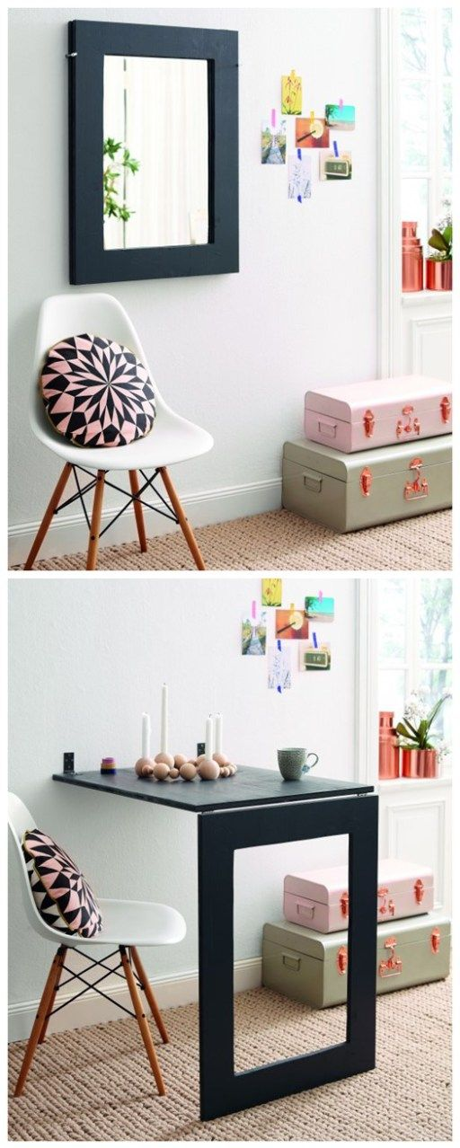 DIY Fold Down Table   Great Idea For A Small Craft Table.