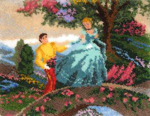 Cinderella Latch Hook Rug Kit Finished