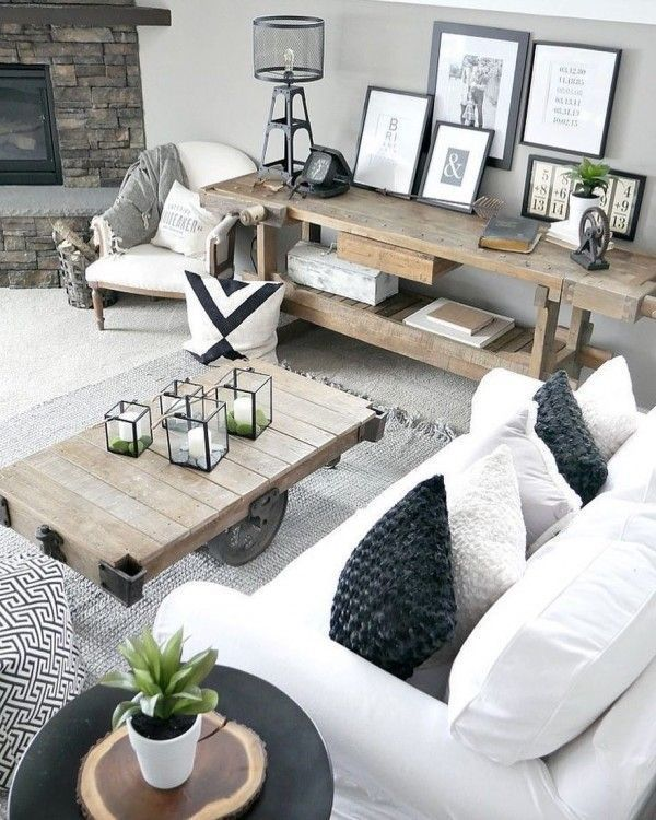 Https Homebnc Com Best Rustic Farmhouse Interior Design Ideas Farmhouseinterior: Modern Farmhouse Living Room Decor, Living Room Remodel