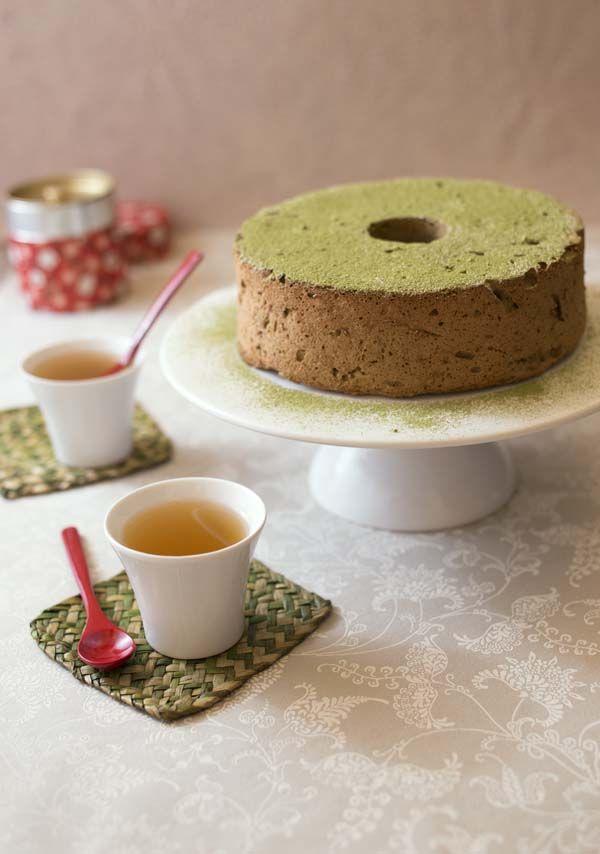 Angel food cake au thé vert matcha – gâteau des anges