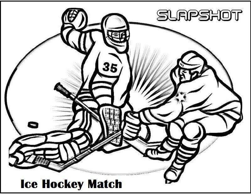 Hockey Match Coloring Picture Sports Coloring Pages Hockey Kids Coloring Pages