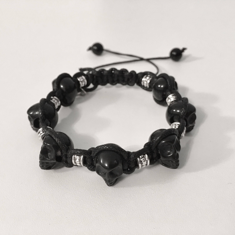 Mens Bracelet Skull Shamballa By Levenimofficial On Etsy Https