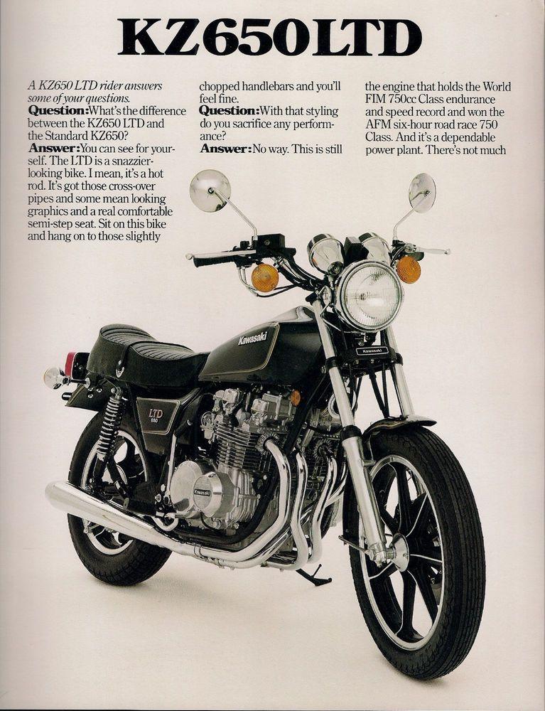 1980 Kawasaki Kz650ltd Brochure Kawasaki Motorcycles Kawasaki Bikes Kawasaki