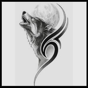 Awentia S Image Howling Wolf Tattoo Tribal Wolf Tattoo Wolf Tattoos