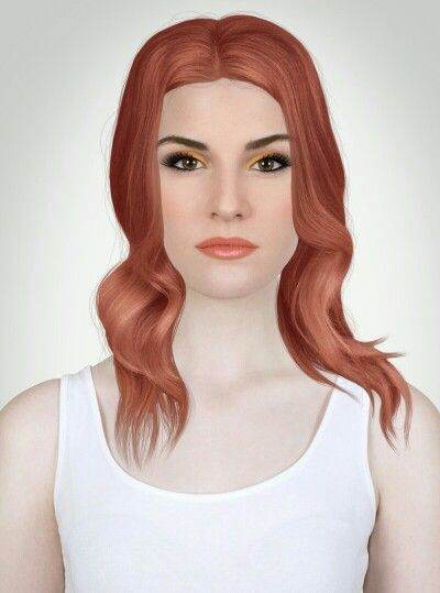 Stunning red hair, Coral lip gloss, peach cheeks, halloween eyeshadow. A gorgeous everday look for brown eyes or hazel eyes!