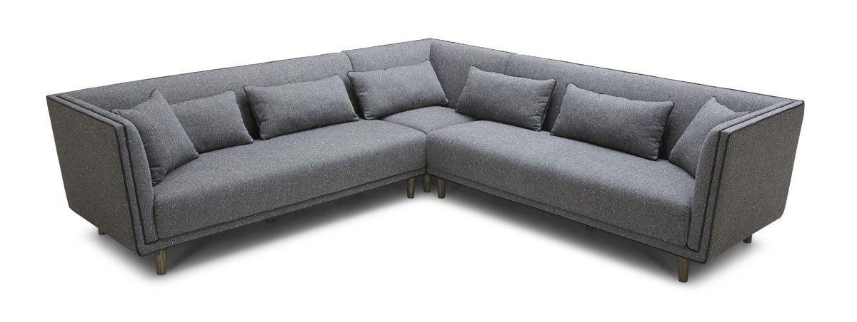 Swell Conway Modern Grey Fabric Sectional Sofa Living Room Uwap Interior Chair Design Uwaporg